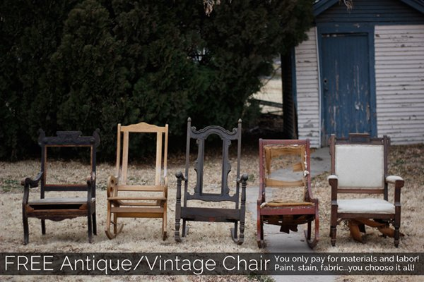 FREE Antique/Vintage Chairs! | My Yellow Umbrella