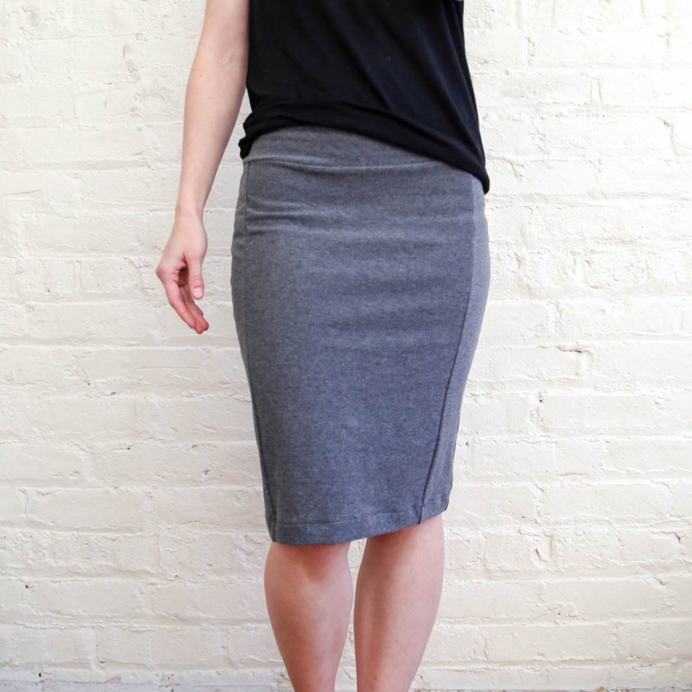 Colette Patterns Mabel Skirt Gray