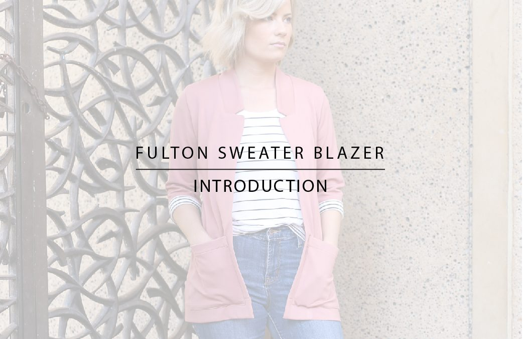 Introducing the Fulton Sweater Blazer